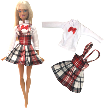 Nk New Doll Student Style Clothes Fashion Dress Daily Wear Skirt Party Gown For Barbie Doll Accessories Girl Best Gift 253a Dz Buy At The Price Of 1 08 In Aliexpress Com