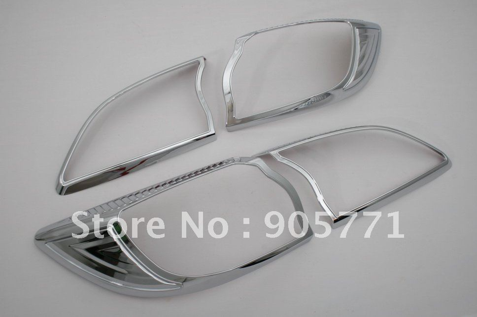 High Quality Chrome Tail Light Cover for Mazda 3 2010 Up Hatchback free shipping цена