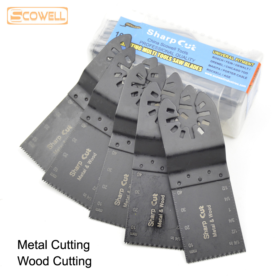 30% Off 10 Pcs 34mm HSS Bi-metal Oscillating MultiTool Saw Blades Fit For Wood And Metal Cutting Renovation Saw FREE SHIPPING