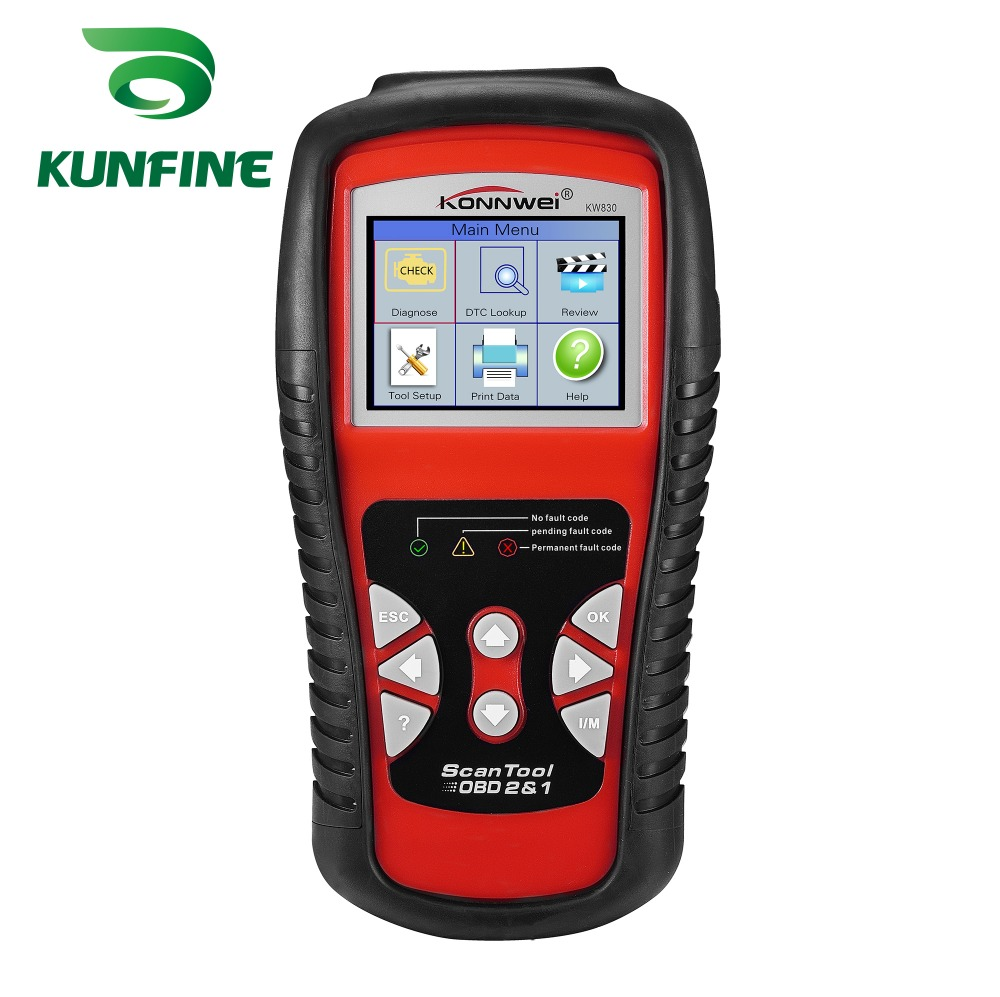 KW830 OBD2/EOBD Car obd Diagnostic tool Auto Scanner Automotive OBDII Fault Code Reader better than AD510 and MS509 2017 latest konnwei diagnostic code reader car fault auto scanner tool kw830 obdii eobd car detector automotive tool