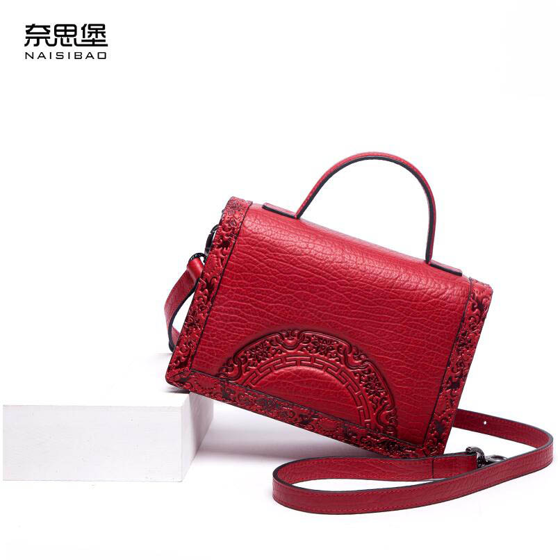 NAISIBAO2018 New luxury fashion 100% high quality small square bag Messenger bag shoulder casual Chinese style small bag купить