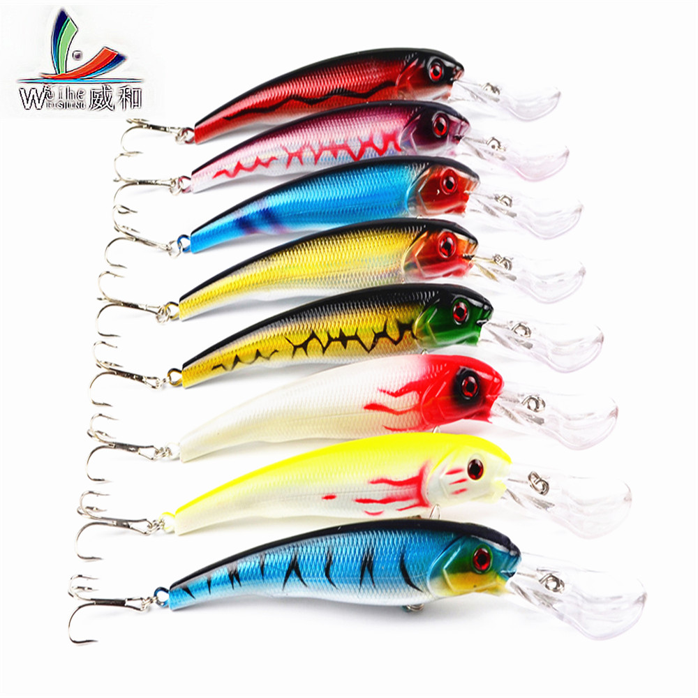 1Pcs Minnow Spinner Bait 3D Eyes Japan Wobbler Fish Swimming Bait Artificial Hard Plastic Saltwater Deep Swim Diving Fishing