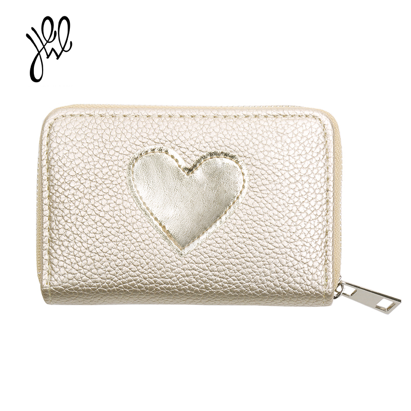 Lovely Lady Purse 2018 New Heart Pattern Women Leather Wallets Small Wallet Girls Short Wallet Card Holder Mini Coin Purse500608 lovely new style wallet women short girls purses card holders wallet long solid with inlaid pearls pattern wallet designer500862
