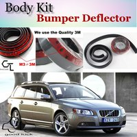 Bumper Lip Deflector Lips For Volvo V70 XC70 Front Spoiler Skirt For TopGear Fans Car Tuning