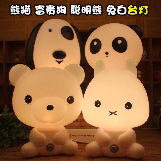 Большой Герой 6 Baymax настольная лампа свет типичный мультфильм лампа ночник и умные собаки, медведи, фея кролика Кунг-Фу Панда