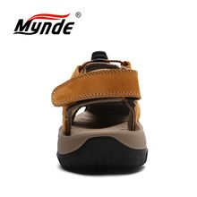 Mynde Brand Genuine Leather Men Shoes Summer New Large Size Men's Sandals Men Sandals Fashion Sandals Slippers Big Size 38-47