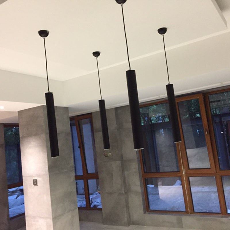 Creative Art Décor LED Pendentif Lampe Bar Cylindre Tuyau ...