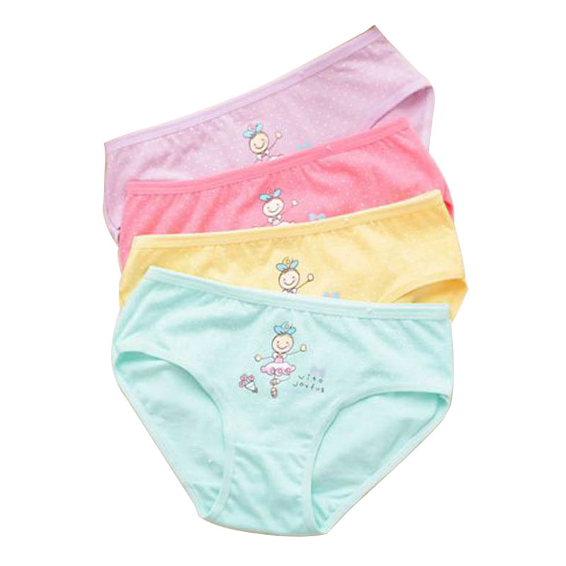 2018 New Cotton Children Panties 6 Pcslot Girls Briefs Female Child Underwear Baby -1907