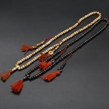 BRO846 тибетская 108 яка кость для медитации и молитвы мала 8 мм черный коричневый