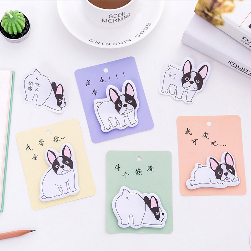 4pcs/lot Cartoon naughty dog weekly plan Sticky Notes Post Memo Pad kawaii stationery School Supplies Planner Stickers Paper 1pc lot cute rabbit design memo pad office accessories memos sticky notes school stationery post it supplies tt 2766