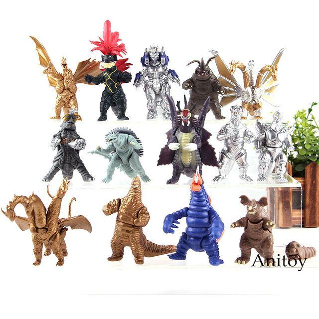 US $9 76 20% OFF|Godzilla Mechagodzilla King Ghidorah Megalon Kamoebas King  Caesar PVC Godzilla Dinosaur Figures Action Collection Model Toys Set-in