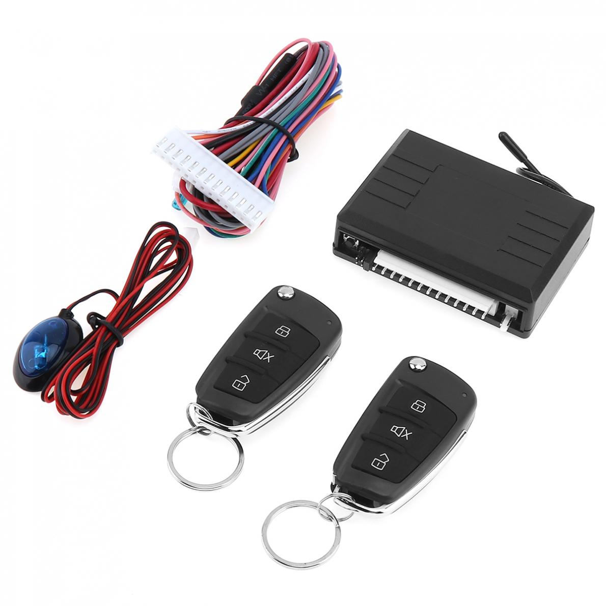 12V Car Alarm System Vehicle Keyless Entry System with Remote Control Door Lock Automatically LED indicator for Hyundai Car in Burglar Alarm from Automobiles Motorcycles