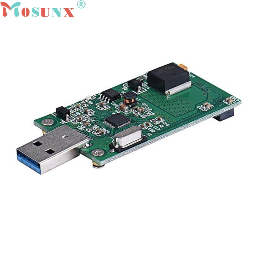 ecoisin2 Mini PCI-E mSATA To USB 3.0 External SSD Conveter Adapter Card 17mar20 mini pci e msata to ssd 2 5 sata3 adapter green black