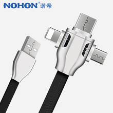 NOHON 3 in 1 Charging Data Cable For iPhone 8 X XS MAX XR Micro USB Type C Android Samsung Huawei Xiaomi Fast Charge Cables