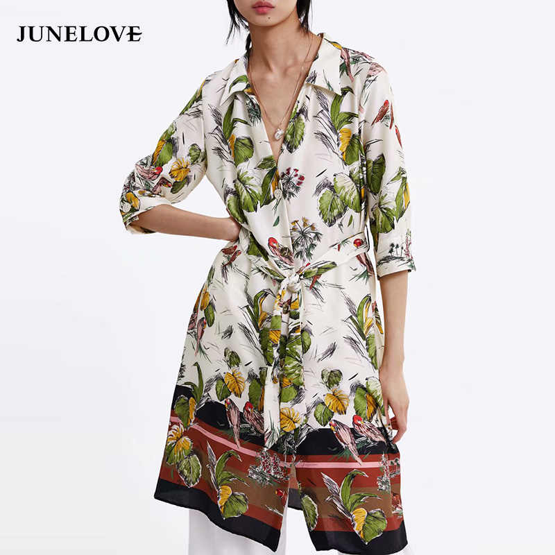 195e827299172 JuneLove Women Spring Long Sleeve Sexy Midi Dress Vintage Print ...