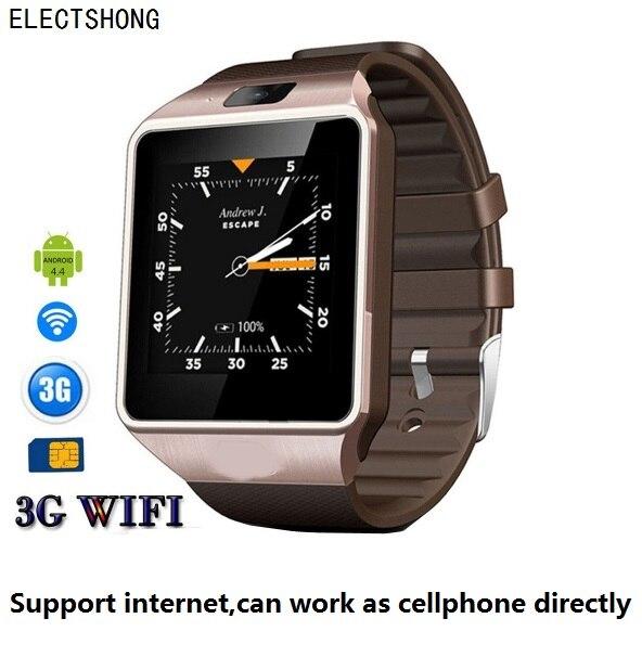 512 mb/4 gb WIFI Montre Intelligente Soutien Internet APP télécharger Bluetooth 4.0 3g Smartwatch w/caméra réel-Podomètre Carte SIM Appel Téléphonique