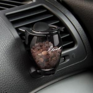 Image 1 - Auto Parfüm Zeolith Kreative Nachfüllbar Auto Lufterfrischer Natürliche Feste Stein Duft Auto Vent Clip Lufterfrischer