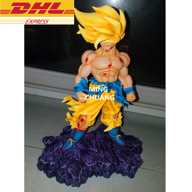 Dragon Ball Statua di Super Saiyan Goku 1:2 Busto GK Kakarotto Son Gohan Goten Full-Length PortraitResin Action Figure Modello giocattolo W76Dragon Ball Statua di Super Saiyan Goku 1:2 Busto GK Kakarotto Son Gohan Goten Full-Length PortraitResin Action Figure Modello giocattolo W76