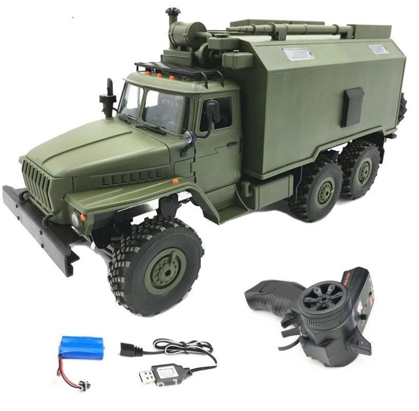 Newset WPL B-36 B36 RC Truck 1:16 simulation full-size 6wheel drive Soviet Ural military truck model off-road Remote Control Car