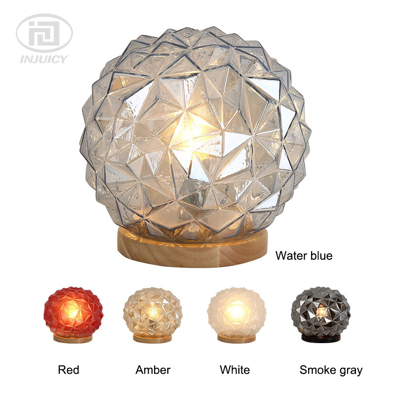High Class Bedroom Bedside E27 LED Table Light Crystal Glass Cover Oak Lamp Hotel Living Room Study Desk LampHigh Class Bedroom Bedside E27 LED Table Light Crystal Glass Cover Oak Lamp Hotel Living Room Study Desk Lamp