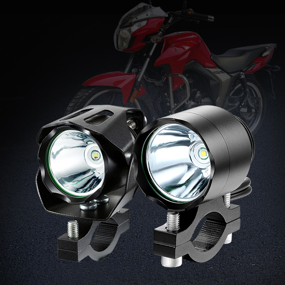 1PCS 125W Motorcycle LED Headlight 12V 3000LMW U5 Motorcycle Reflector Headlight Motorcycle Spot Light Head Lamp