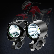 1PCS 125W Motorcycle LED Headlight 12V 3000LMW U5 Motorcycle Reflector Headlight Motorcycle Spot Light Head Lamp стоимость