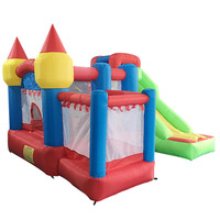 YARD Inflatable Bouncy Castle Combo with Slide Ball Pit Home Use Park Inflatable Bounce House Castle for Kids Party Sent PE Ball