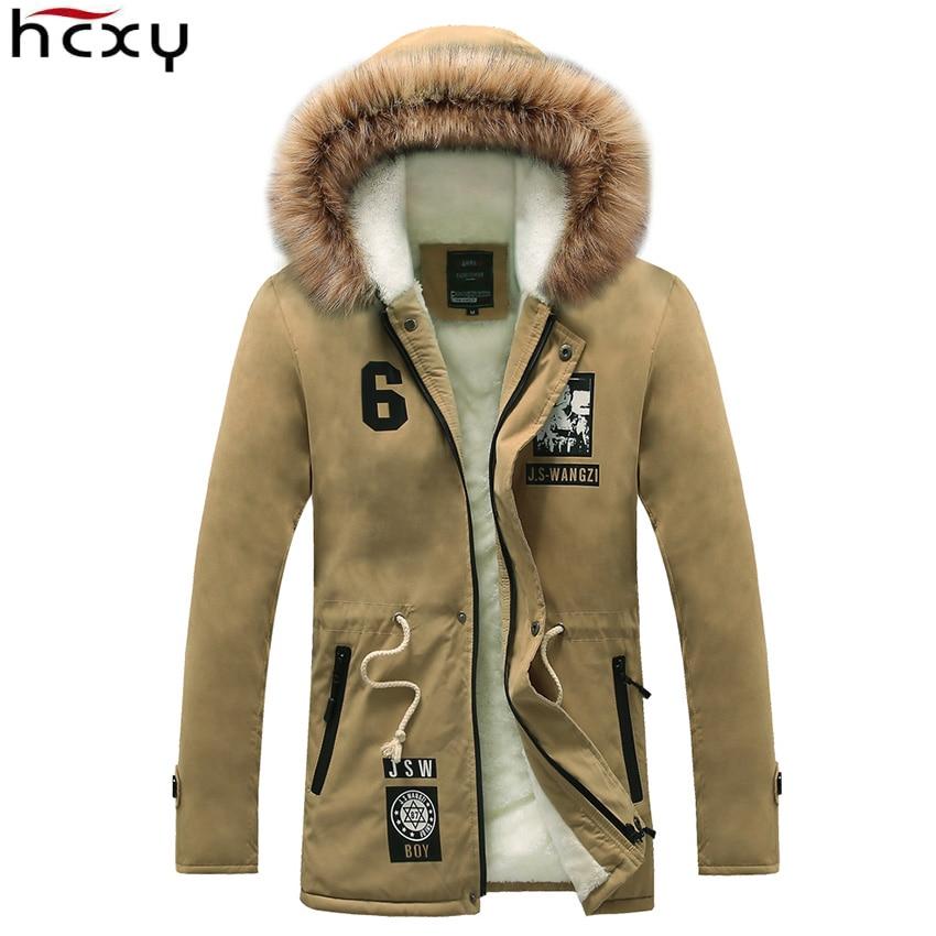 HCXY Для мужчин зимняя куртка 2017 бренд Повседневное Для мужчин S Куртки и хлопковые пальто теплая Толстая парка Для мужчин пиджаки 4xl куртки му...