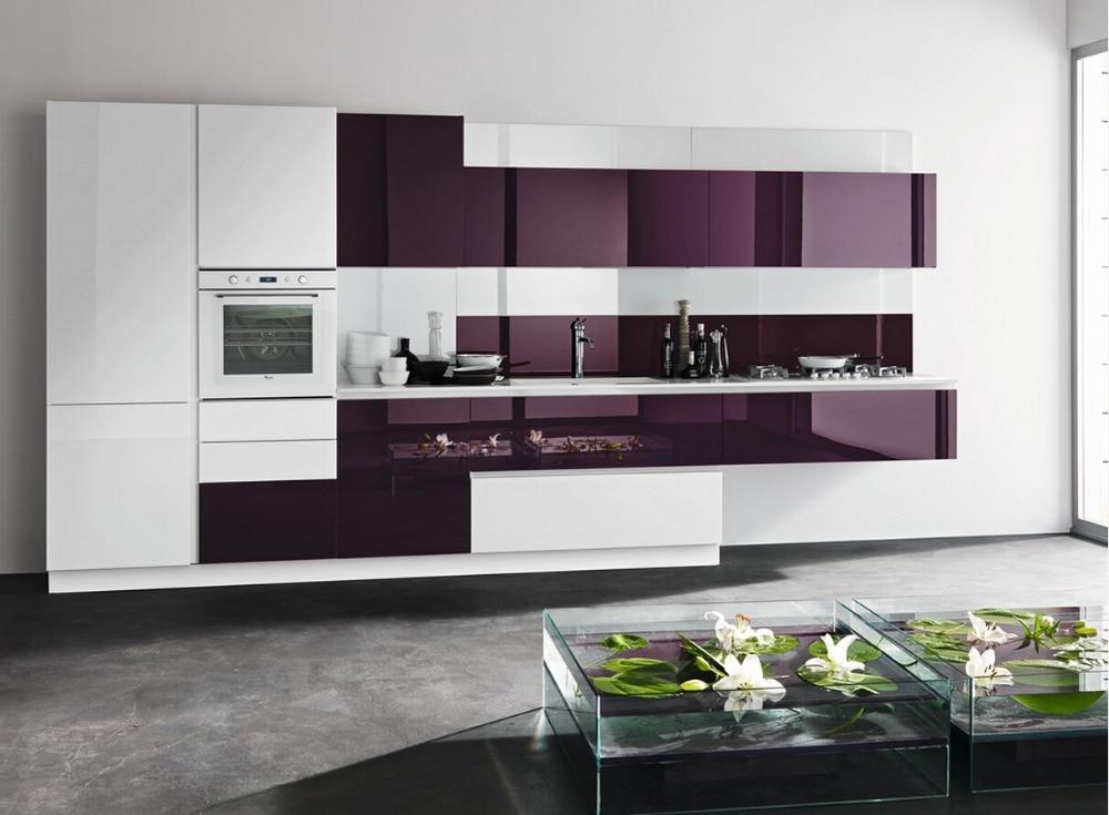 2017 neueste design hochglanz lackiert küchenschränke weiße farbe ...
