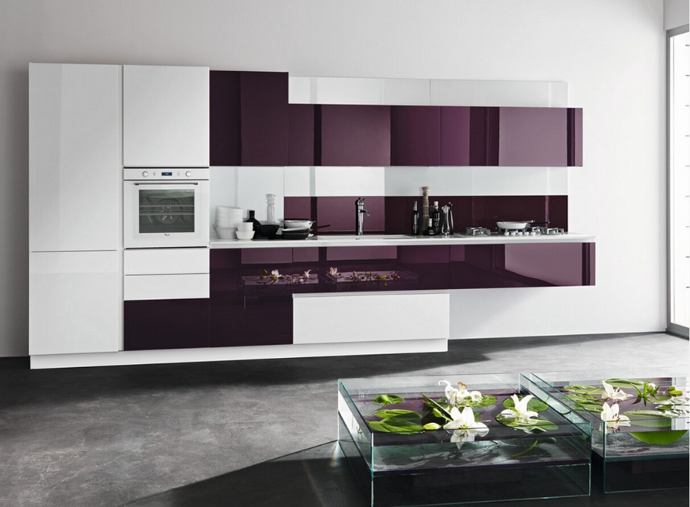 Buy 2017 newest design high gloss lacquer for Modern kitchen cabinets colors