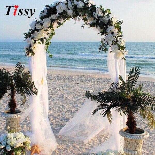 1000cm X 75cm balts rullis mīksts milzīgais kāzu krēsls Sash bows - Svētku piederumi