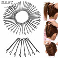 60 pçs/set grampos de cabelo para as mulheres senhoras grampos invisíveis encaracolados ondulado Grips Salon barrete acessórios para o cabelo Hairpin