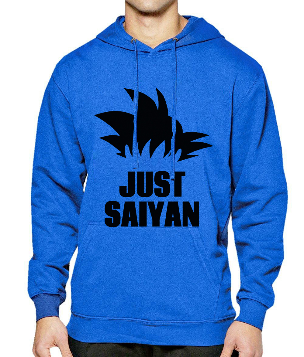 Men's Sportswear Hoodie 2018 New Fashion Autumn Winter Fleece Sweatshirt Men Print JUST SAIYAN Superhero Dragon Ball Z Hoodies