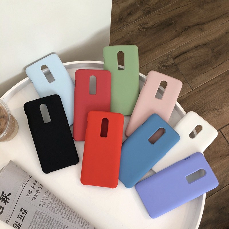 Business Style Liquid Silicone <font><b>Case</b></font> For Oneplus <font><b>6</b></font> <font><b>One</b></font> <font><b>Plus</b></font> <font><b>6</b></font> Solid Candy Color Matte Soft Back Cover Silicon Anti-knock <font><b>Case</b></font> image