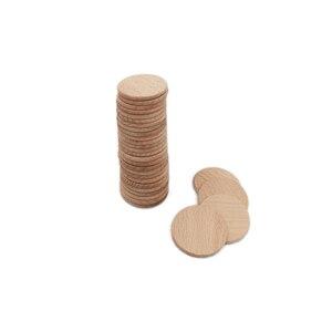 Image 4 - 100 חבילת 38mm 1.5 אינץ גמור עץ מעגל עגול טבעי כפרי עץ מגזרת עבור עיצוב הבית Diy קרפט ספקי