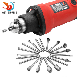 20pcs Set HSS Wood Milling Rotary Tool Woodworking Carving Tools Accessories Dremel Rotary Tool Carved Cutter