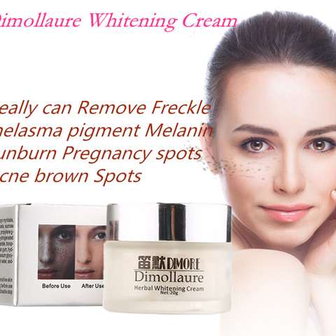 Dimollaure Strong effect whitening cream 20g  Remove Freckle melasma Acne Spots pigment Melanin face care cream by Dimore Lahore