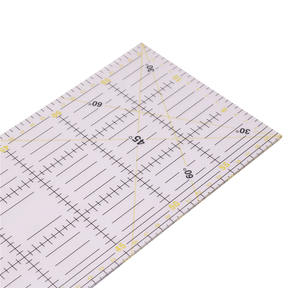 1 Pcs 60 * 15 * 0.3cm Measuring Ruler Tailor Cutting Patchwork Ruler Student Diy Hand Footage International General