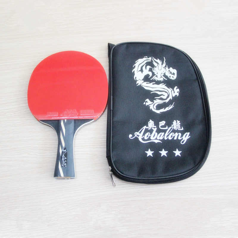 Professional Carbon Fiber Table Tennis Racket Blade With Double Face Pimples-in Racket Rubber Original Ping Pong racket With Bag
