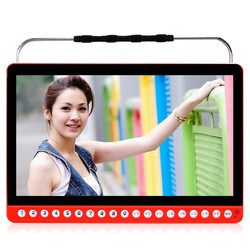 2017 New 13 inch Portable DVD player HD 1280x720P video game machine old man mobile audio Music singing Charging Speaker MP3