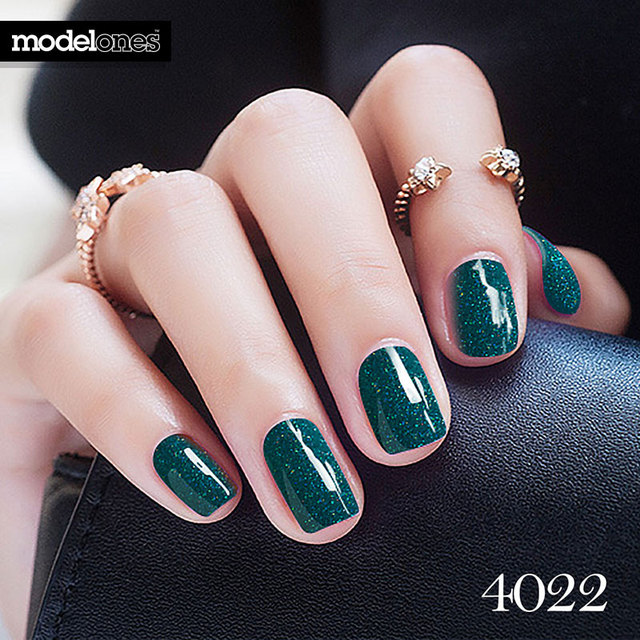 Modelones Newest Dark Green Color Gel Nail UV Long lasting Nail Gel ...