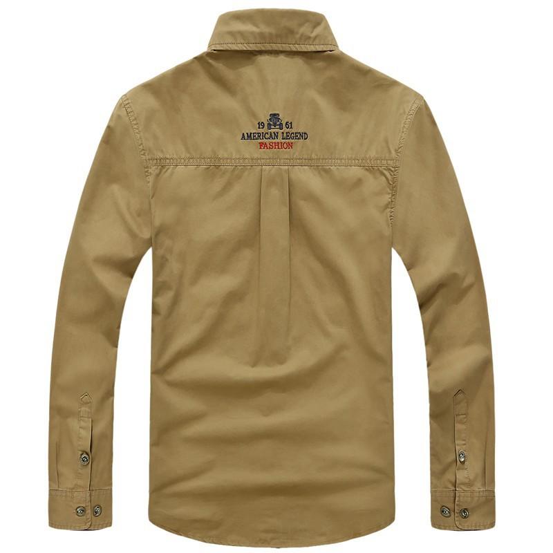AFS JEEP 2015 Spring Autumn Fashion Men\'s Cotton Dress Plus Size Shirts Camisa Hombre Blouse Vestido Men Clothes Casual 2XL 3XL (20)