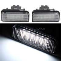 2X License Plate Light Lamp 5Doors 3528 SMD 18 LED For Mercedes Benz C CLASS W203
