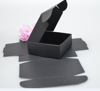 7*7*2.2CM Wholesale Black Paper Box,Handmade Soap Box,Christmas Wedding Birthday Party Favor,Jewelry Candy Box 50pcs