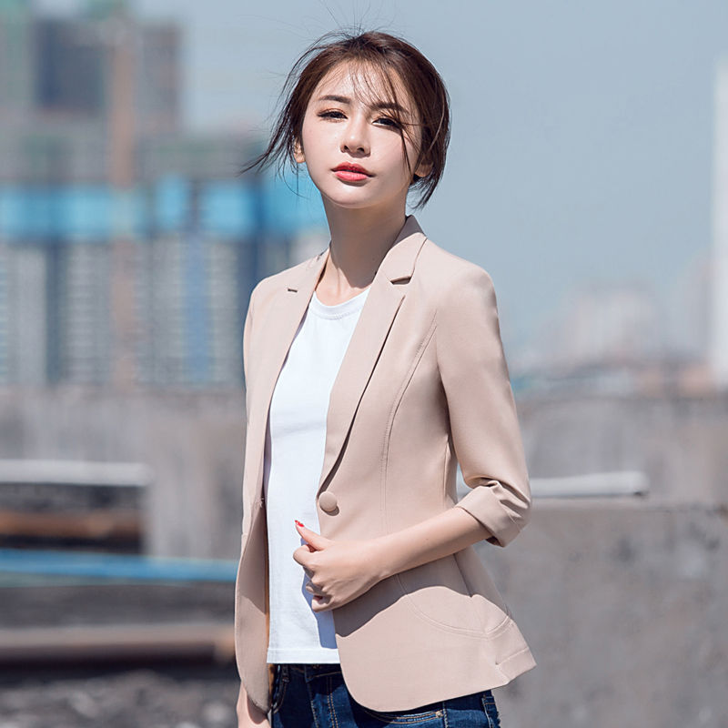 Elegant Female Summer Thin Suits Plus Size 3xl 4xl 4xl Women Office Blazer Blue Orange Slim Fit Breathable Blazer For Work Ma088 Latest Fashion Blazers