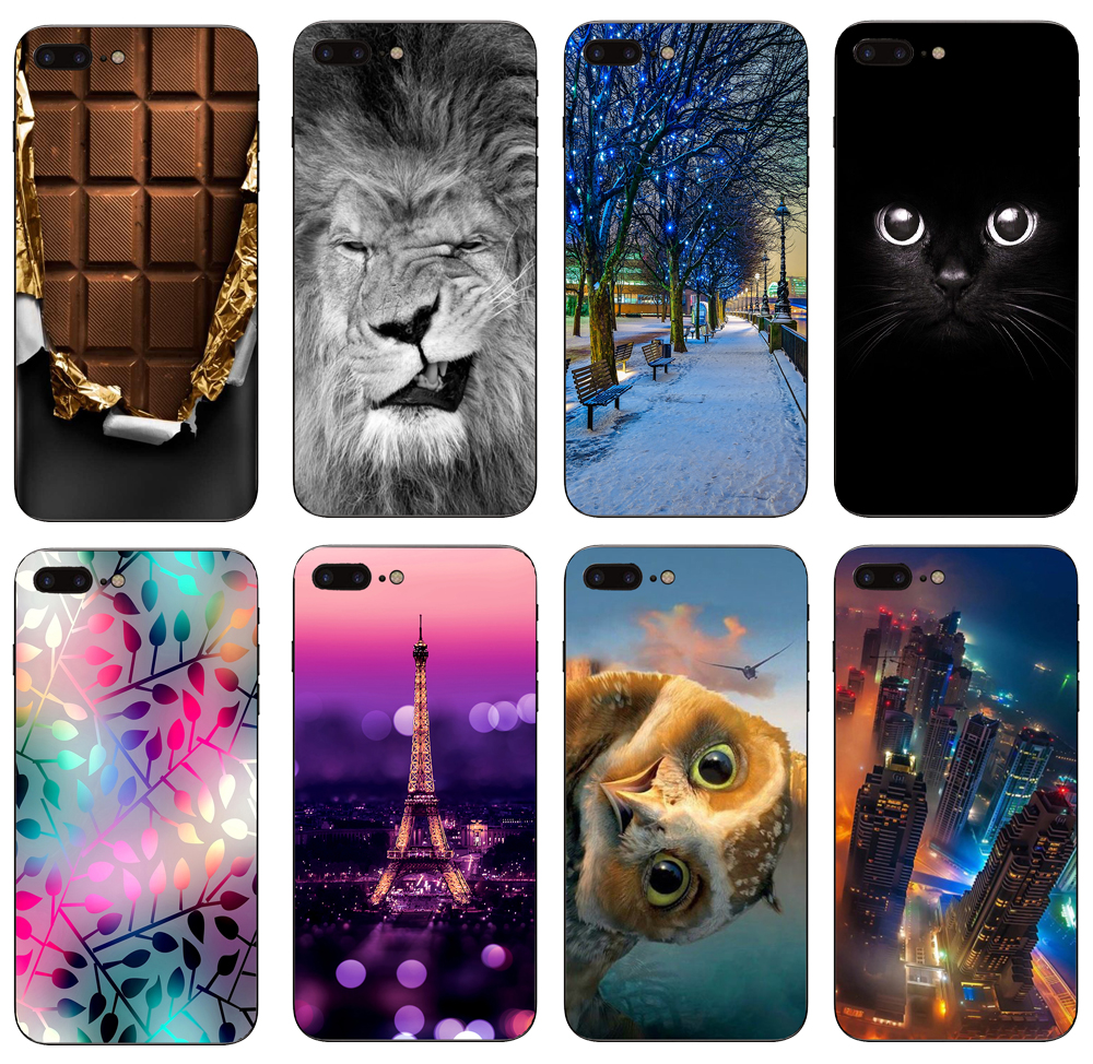 Case For iPhone 6 6s 6 plus 6s plus 7 plus 8 plus TPU Case Soft Dual Silicone Back Cover for iPhone 6 s 6 7 8 Fundas Bag