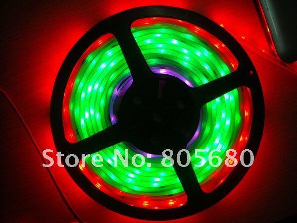 RGB светодиодные полосы света, цифровой цвет с WS6803 IC, 30 шт 5050 smd на метр; водонепроницаемый кремний
