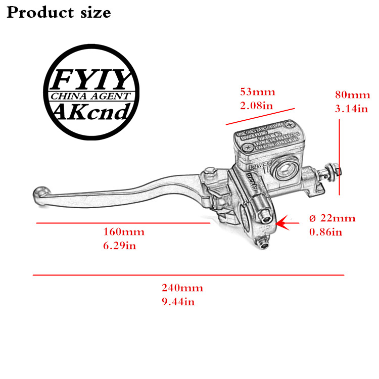 Image 3 - Front Master Cylinder Hydraulic Brake Lever Right For Dirt pit bike atv quad moped scooter buggy GO kart motorcycle motocriss-in Levers, Ropes & Cables from Automobiles & Motorcycles