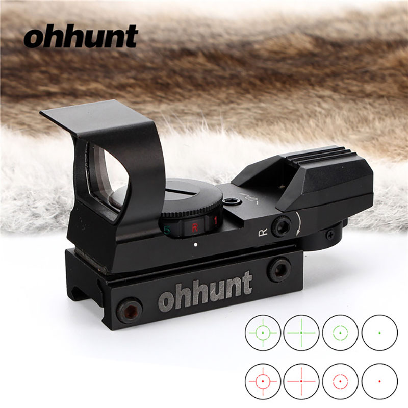 Lambul NEW Red Green Dot Sight Collimator Scope Reflex Sight Scope fit 20mm Weaver Rail For Airsoft Hunting Rifle Scope цена