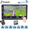 Podofo Car Radio Autoradio 2Din GPS Navigation Auto Audio Player Bluetooth Multimedia USB 2 Din 7